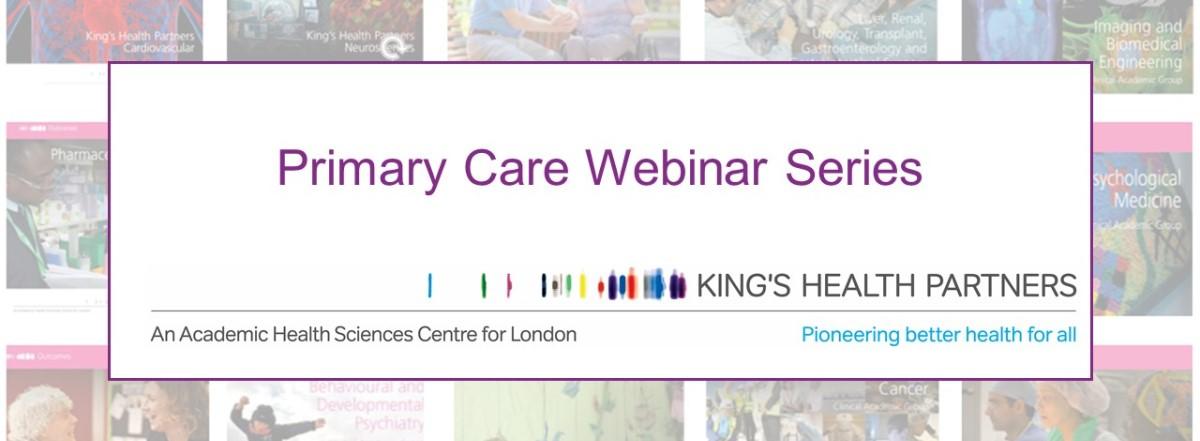 Primary Care Webinar Series